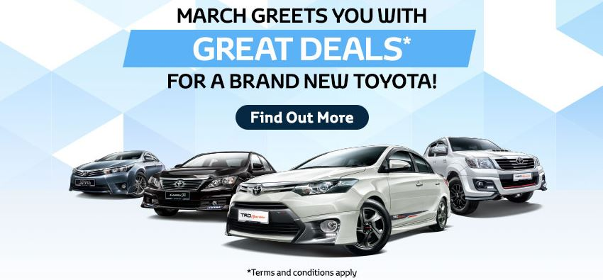 Toyota March 2015 Promotion