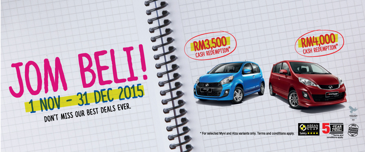 Perodua Year End Promotion 2015
