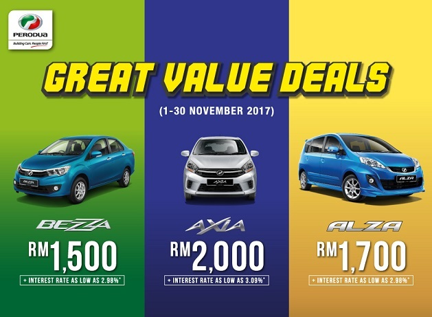 Perodua Rebate Discount Promotion November 2017