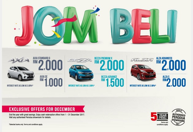 Perodua Promotion December 2017