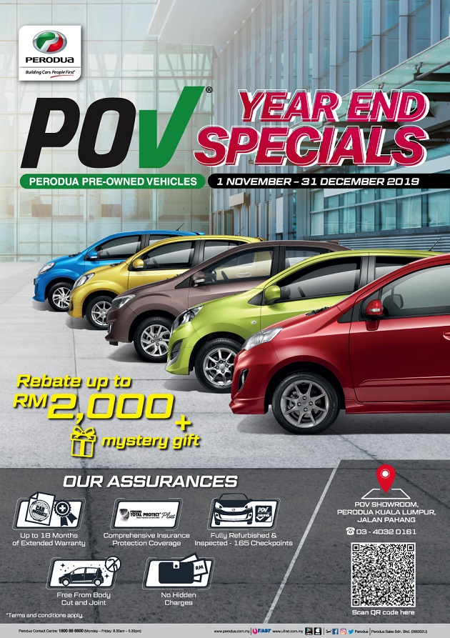 Perodua Year End December Rebate Promotion 2019